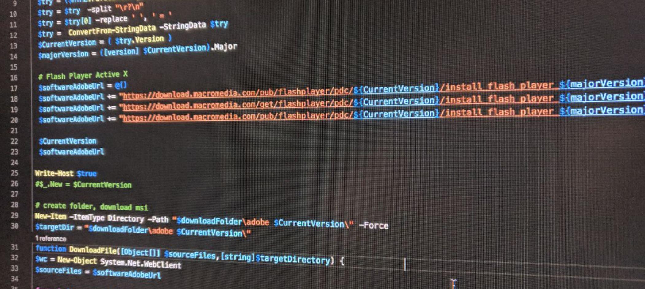 Как скачать msi файлы для adobe flash через powershell | anton masyan.